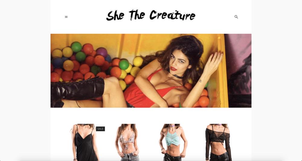 Shethecreature.com e-commerce