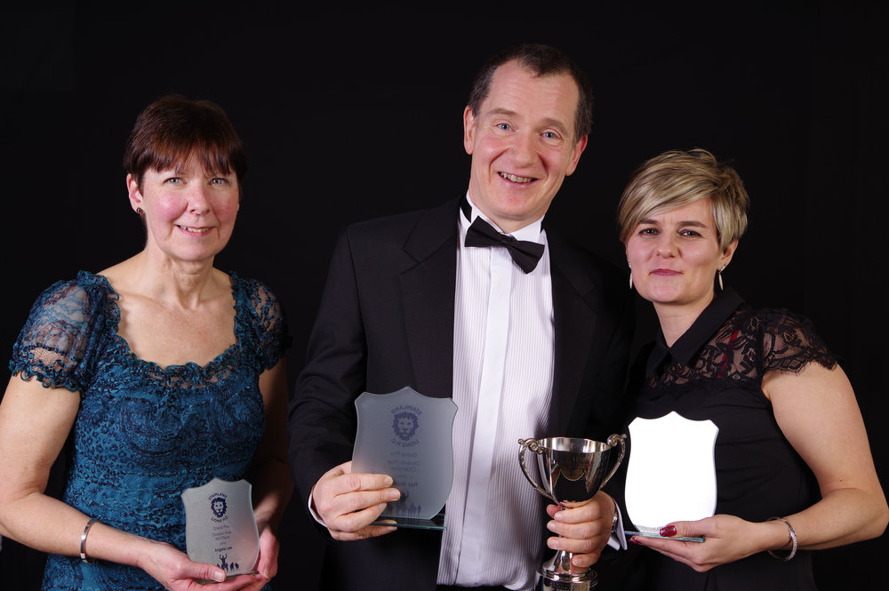Left to Right: Angela Lee (3rd place), Ray Mooney (1st place), Nicki Cartwright (2nd place)