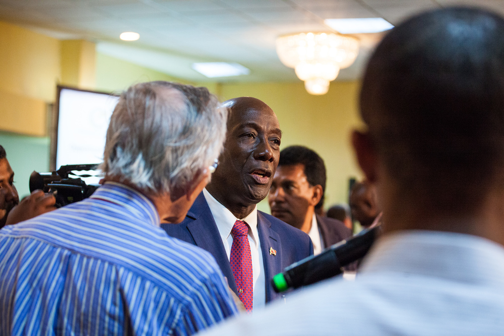 Opposition Leader Dr. Keith Rowley at a recent event sponsored by the Energy Chamber.  Photo by Mark Gellineau