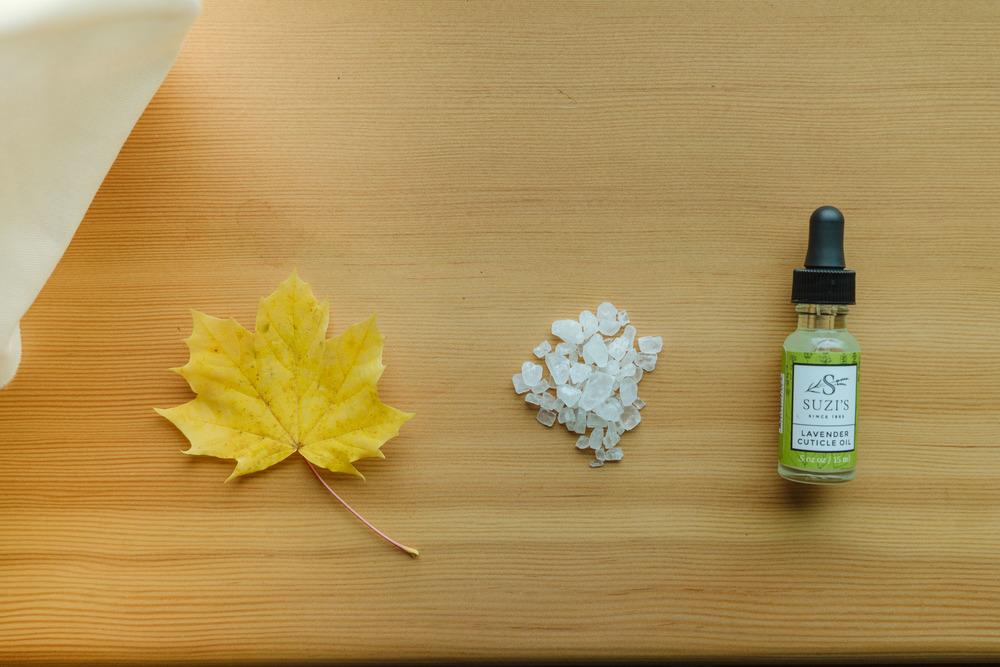 Maple leaf, sea salt, Lavender Cuticle Oil