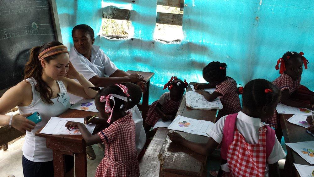 Haitian children in school