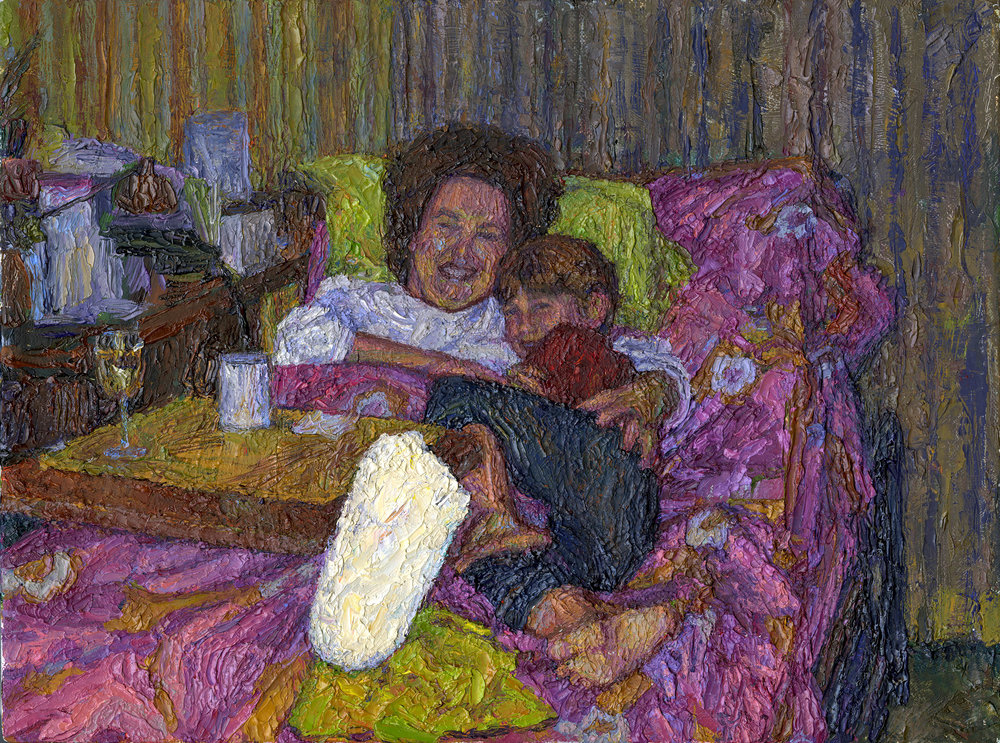 "The Hospital Bed, oil on linen, 9"" x 12"""