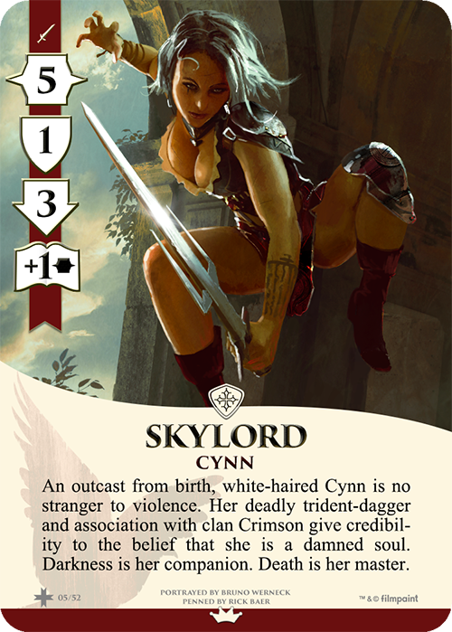 Skylord Cards have a red ribbon