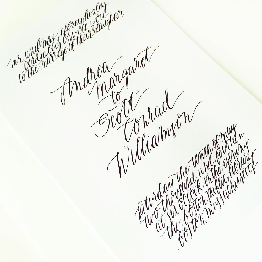 Invitations — emily a howell calligraphy design