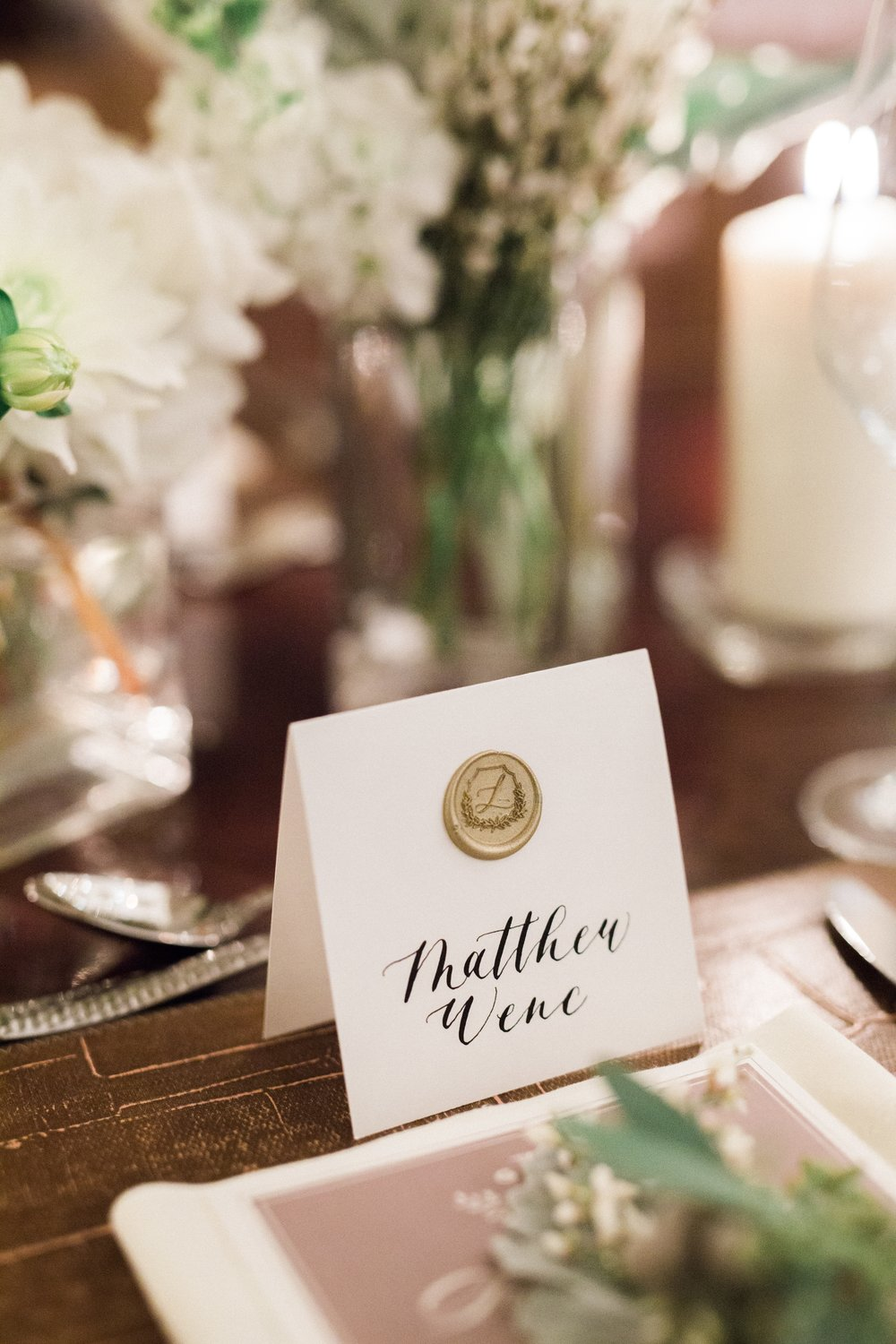 wax seal place card