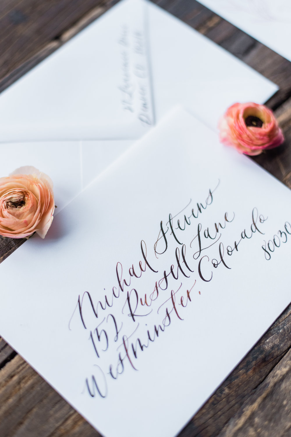 envelope calligraphy addressing