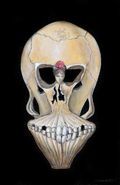 Ballerina In A Deaths Head Joan & Barry Biedeger