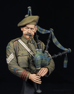 WWI Gordon Highlander Pipe Sgt David Hood