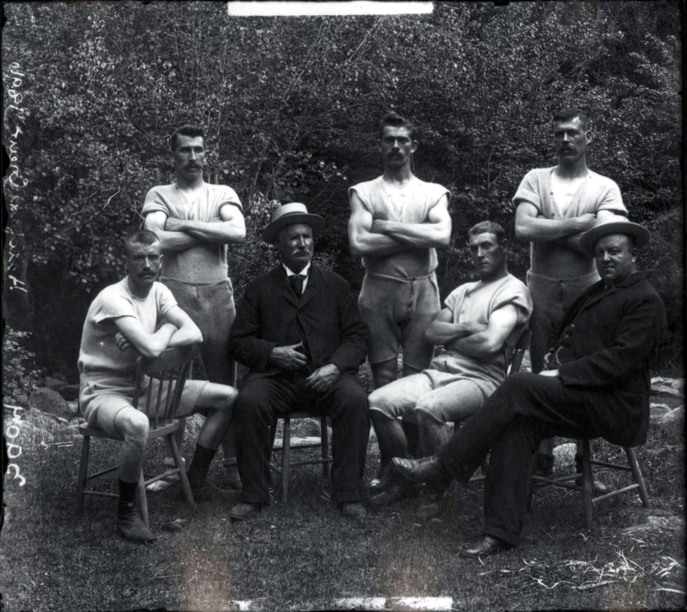 The HFX rowing crew in 1896: original game face.