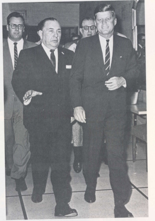 President Kennedy with Mayor Daley at the Hilton.