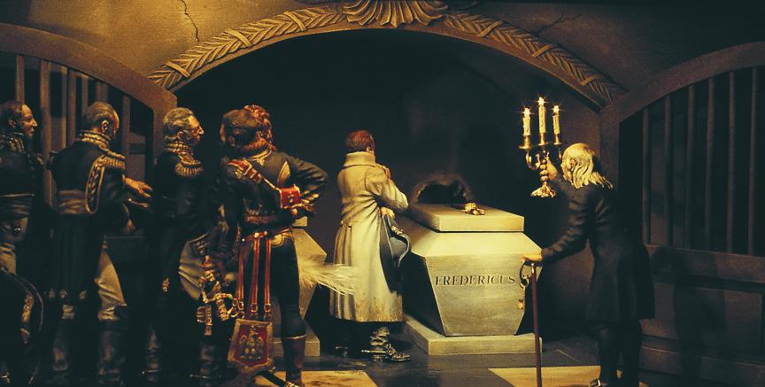 Napoleon at the Tomb of Frederick the Great  by Shep Paine