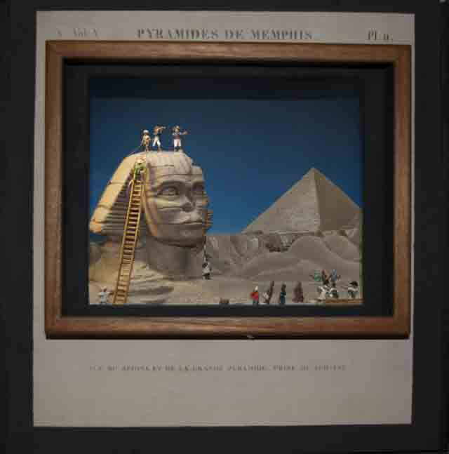 Pyramides de Memphis . An Eventful Visit to the Sphinx and Pyramids of Giza, just after dawn, late 1798.  (2011; 28mm and forced perspective)