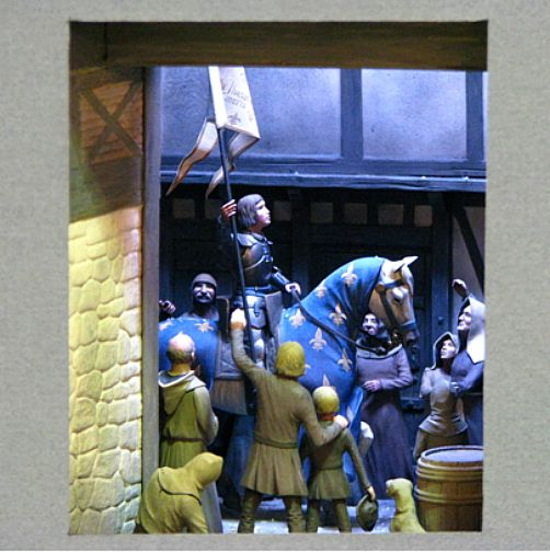 The Miracle: Joan of Arc Entering Orleans. (2008, 54mm; photo by Bob Sarnowski)