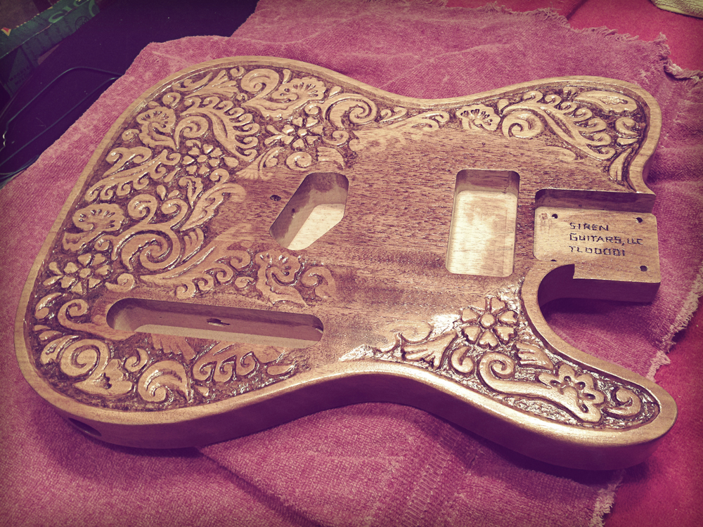 Tooled Leather Telecaster