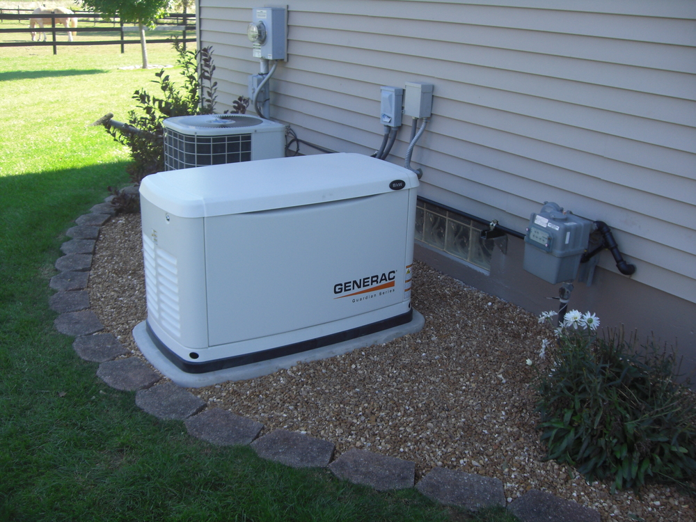 Generac Whole House Generator on Figure 3 Standby Generator And Transfer Switch Installed In A Home
