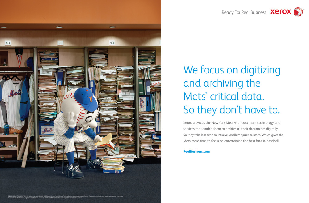 Xerox Mr. Met, Young & Rubicam NYC