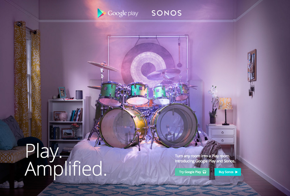 Google Sonos, Advertising