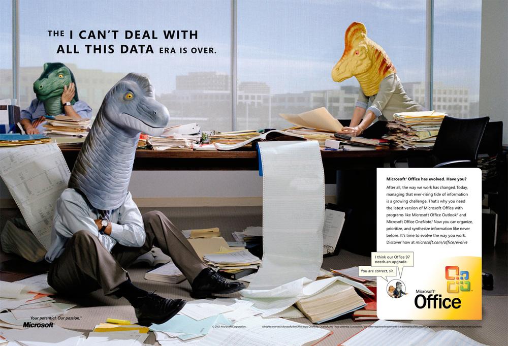 Microsoft Dinosaurs, Advertising