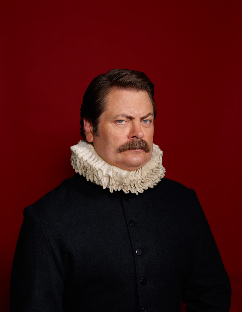Nick Offerman, Famous Portraits