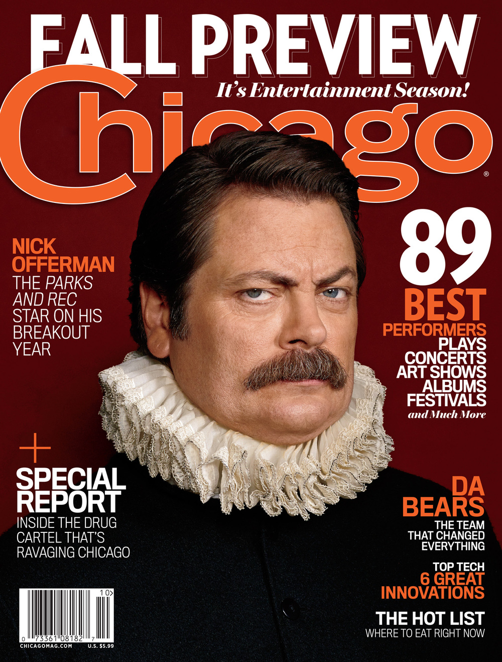 Nick Offerman,  Chicago