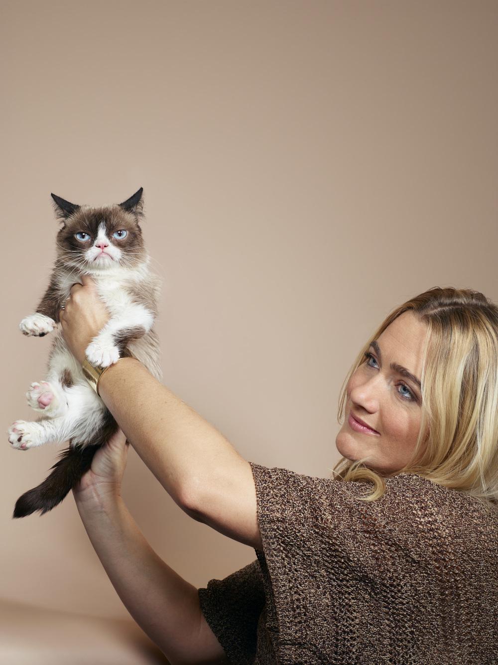 The Grumpy Cat, with owner Tabatha Bundesen