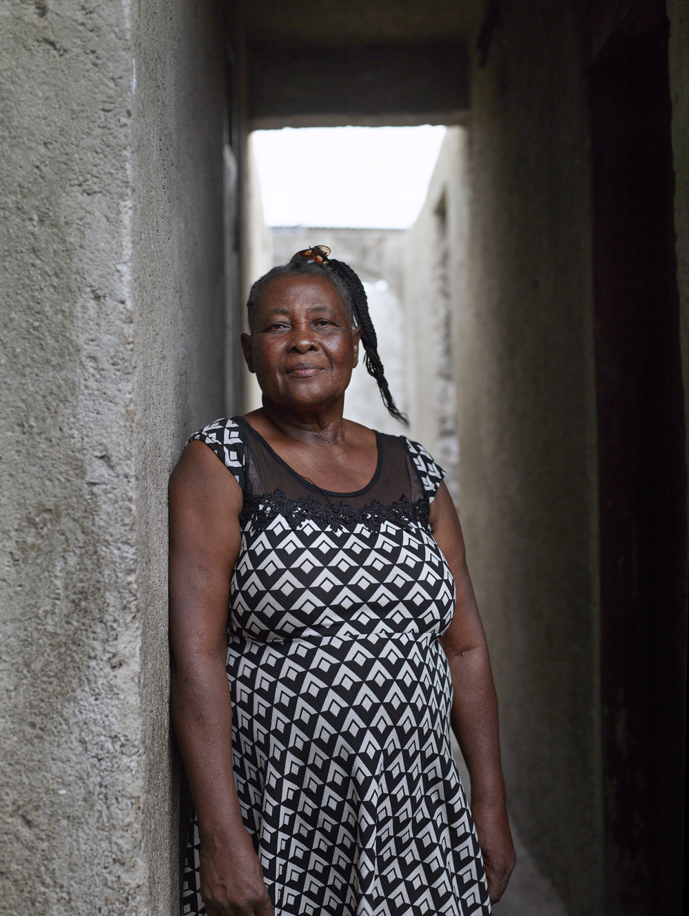 Madame Bwa, a community organizer and liaison with SOIL in the Cap-Haitien neighborhood of Shada.