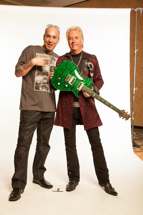 Jonathan Seti with Rock and Roll Hall of Famer Howard Leese.