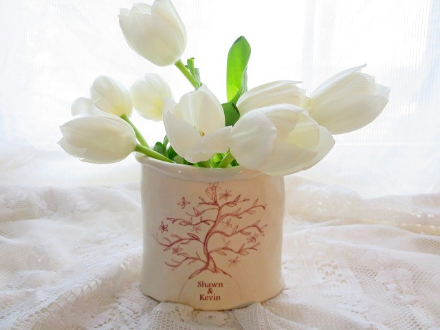 Personalized Tree Of Life Vase Hand Built