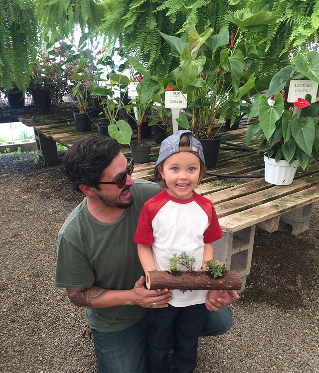 Fun times with @j_premo13 and his son over the weekend! Building succulent planters and creating memories here at the nursery. It's so awesome to see the enthusiasm the younger generations have for plants in a time and place that is so technically involved with electronic devices and media. We highly encourage anyone to bring their kids along on their visit to our nursery to get them educated and involved with nature!! . . We are open to the public, Tuesday - Saturday 8 am - 4 pm. . . . . #CosgroveOrchids #CosgroveSucculents #diysucculentplanter #leucadialife #encinitas #bringthekids #supportthegroms