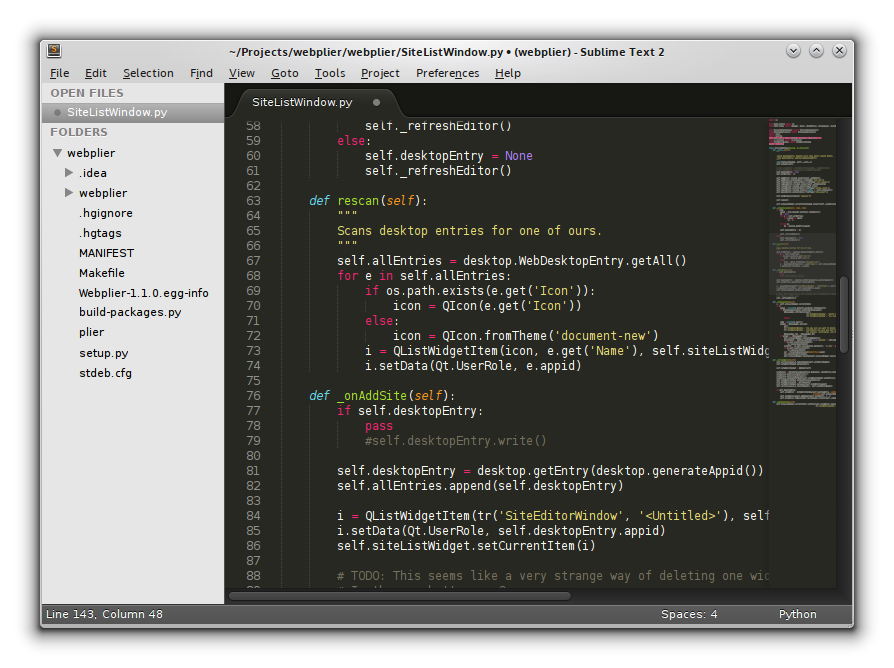 Figure 1. Sublime Text Editor Window