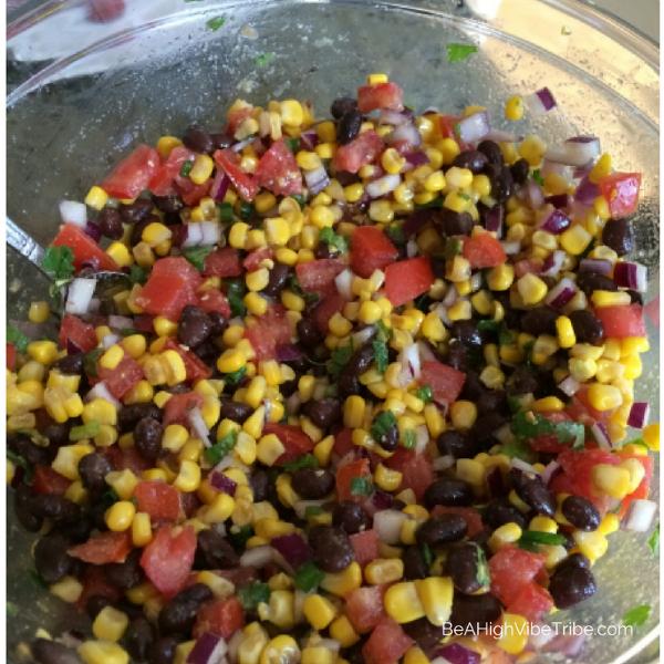 Black Bean, Corn, Tomato Salsa Dip