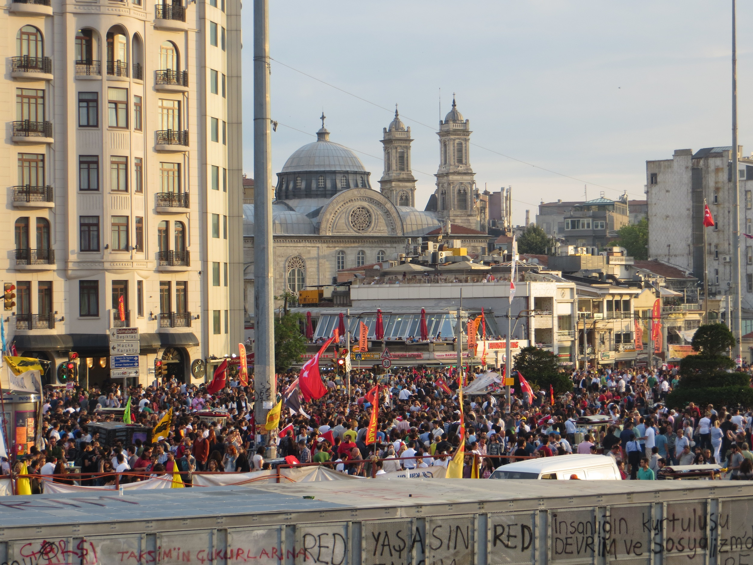 The view of Taksim Square.