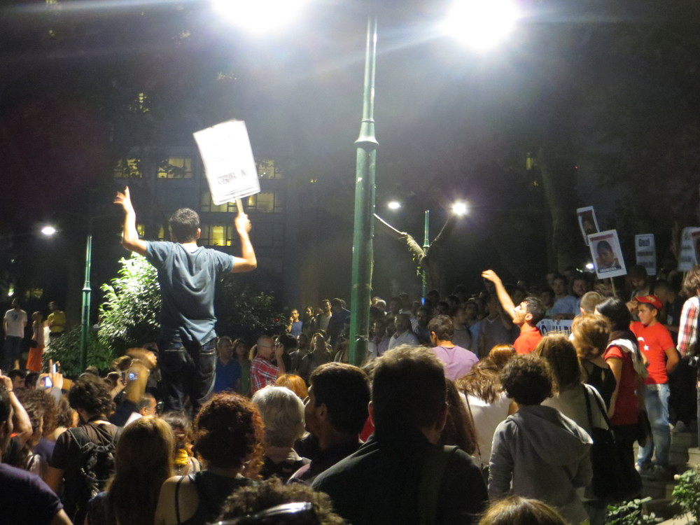 Inside Gezi Park, nightly marches still end in protests.