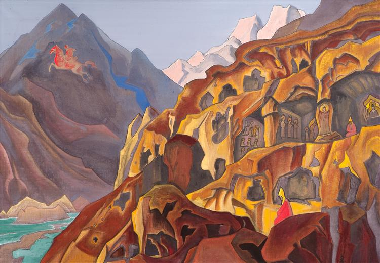 Sacred Caves,  Nicholas Roerich (1932).