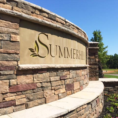 Brand & monument design for Summerhill Residential Development.