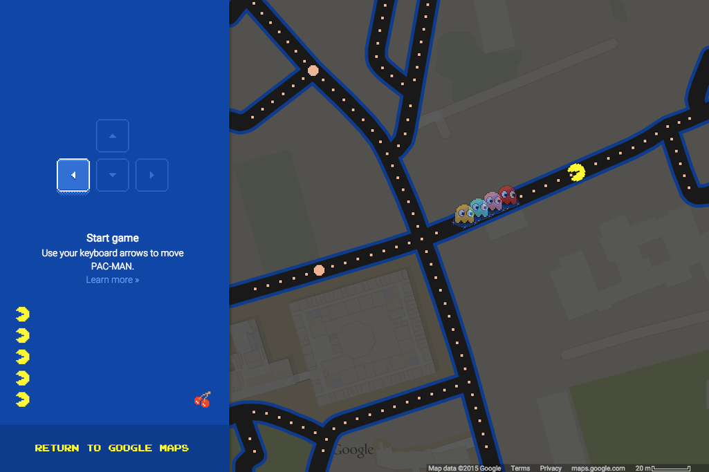 theverge: Google Maps now lets you turn any location into a game of Pac-Man.