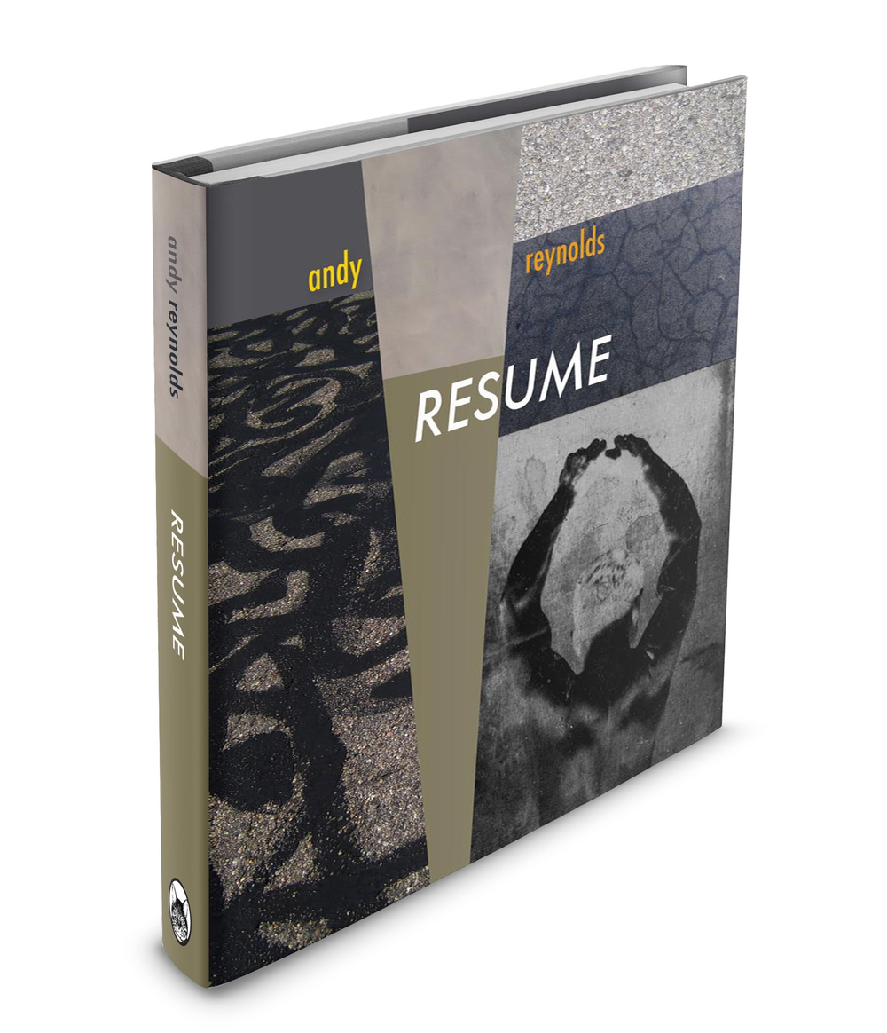 Book Cover RESUME as coffee table book Andy Reynolds GRAPHIC