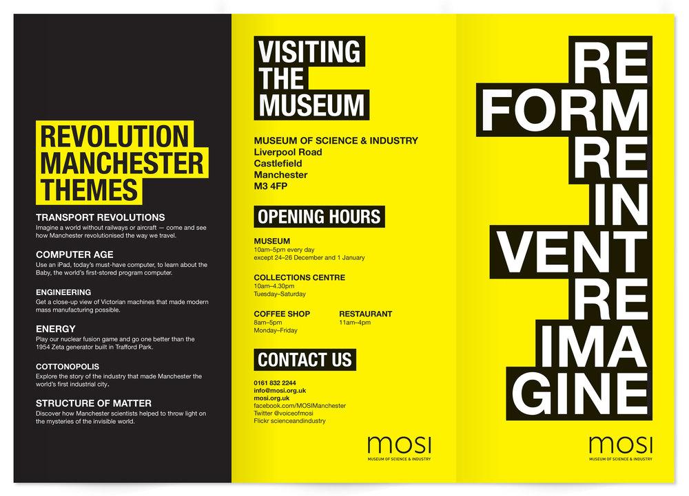 museum exhibition brochure front panels