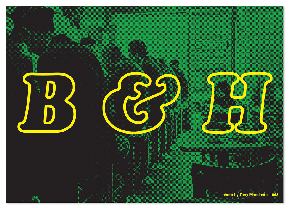 Postcard for B&H Dairy, East Village, NYC