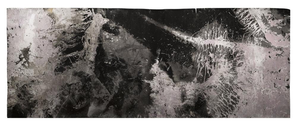 "Ice Moon II, 2018, 10'3"" x 3'6"", Silver Gelatin Print"
