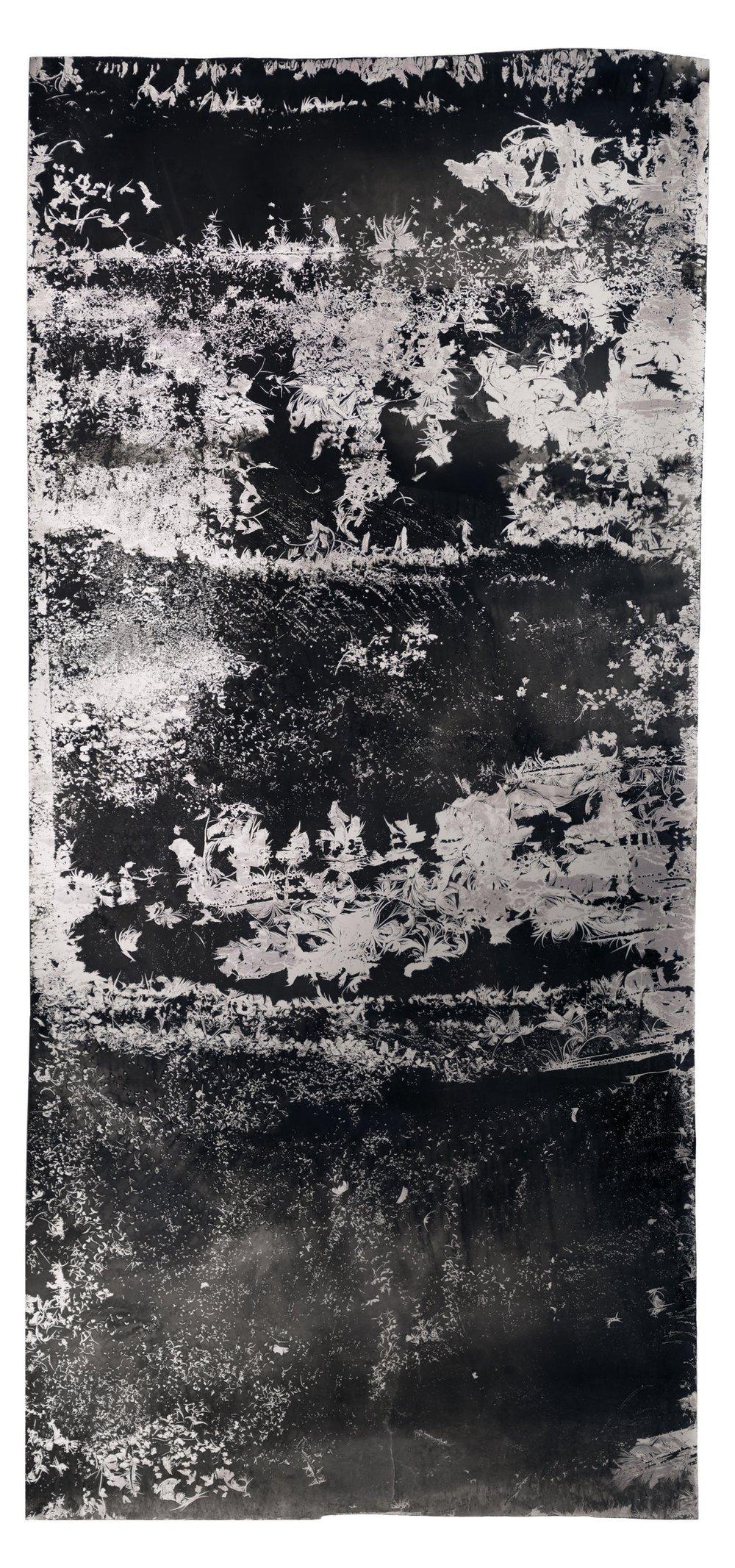 Ice Moon I , 2018, 10.66 feet x 3.5 feet, Silver Gelatin Print