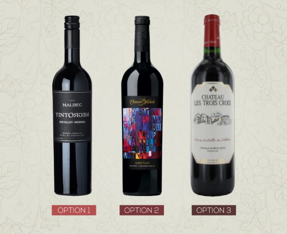 red wines label choices
