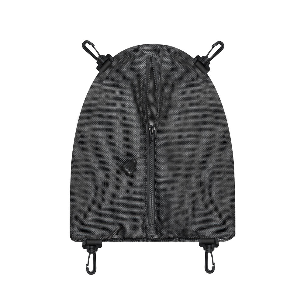 """Cargo Bag   Provides secure storage for your important items Custom fits into the forward compartment of the UFO Corrosion free zipper with large pull bob for use with gloves 13"""" (33 cm) long x 12"""" (30 cm) wide at base x 4"""" (10 cm) deep  p/n UF200"""