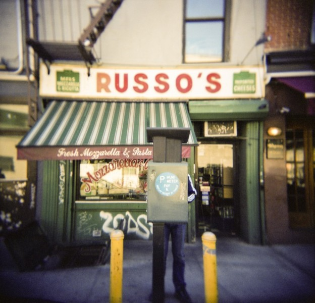 The store front of Russo's café, Manhattan