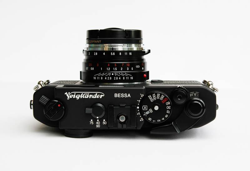 a Voigtlander R3A camera & 40mm lens