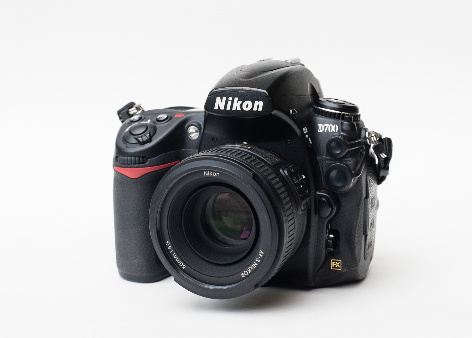 A Nikon D700 with 50mm f1.8 lens