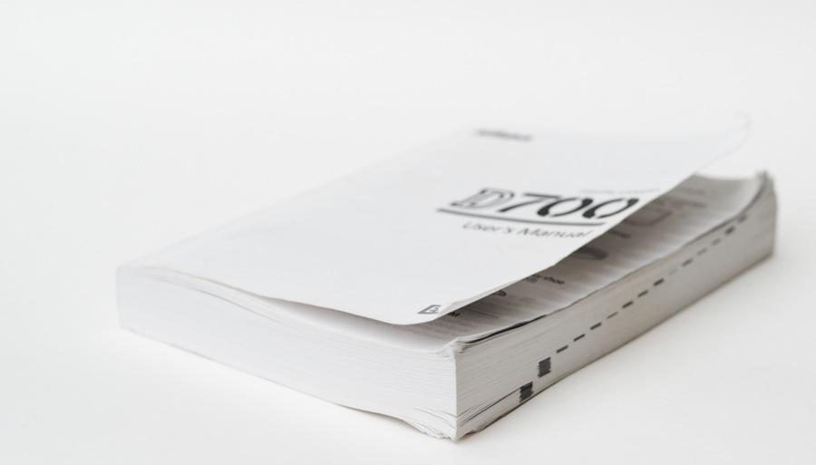 a Nikon D700 camera manual