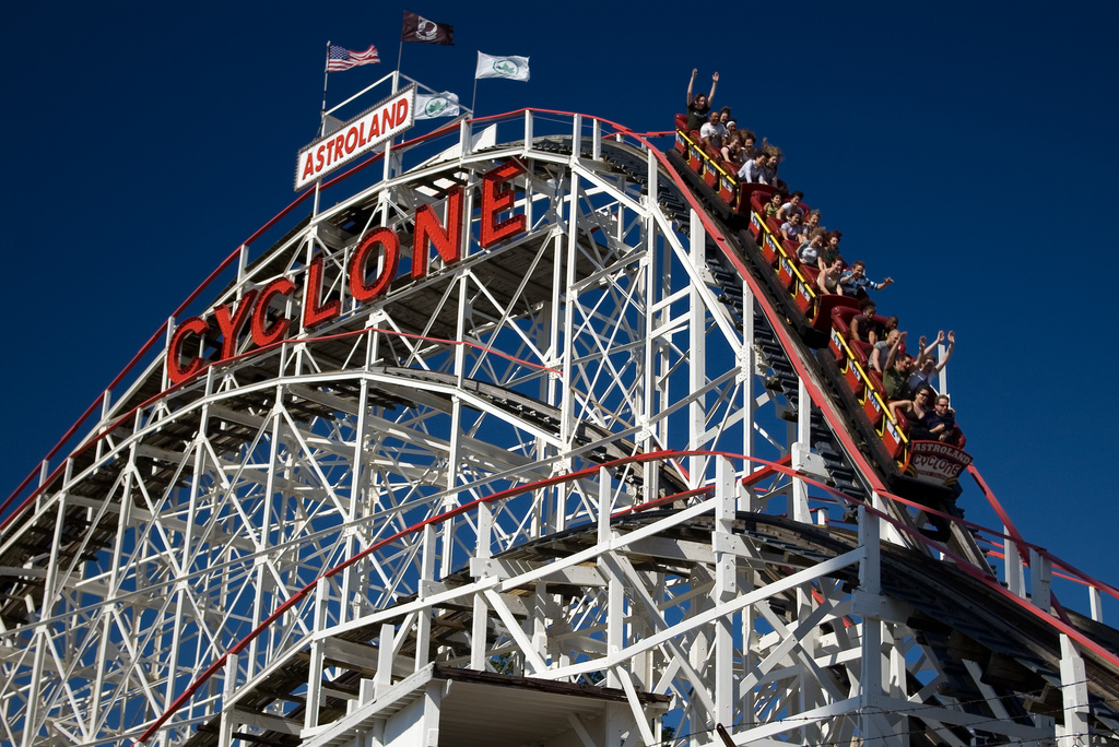The Coney Island Cyclone roller coaster.