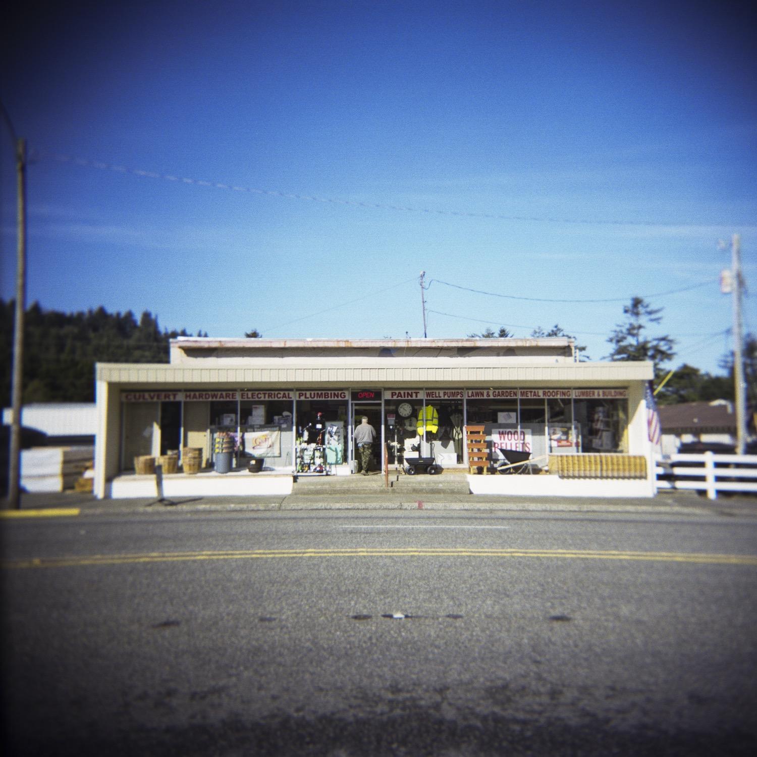 documentary photography shot of Coos Curry Supply a hardware store in Port Orford, OR