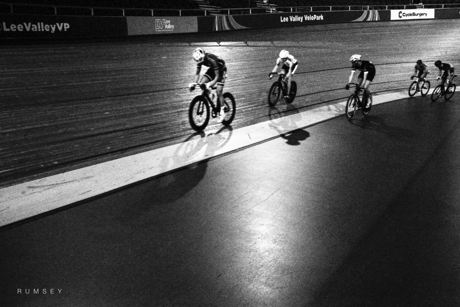 track racing at Lee Valley velodrome